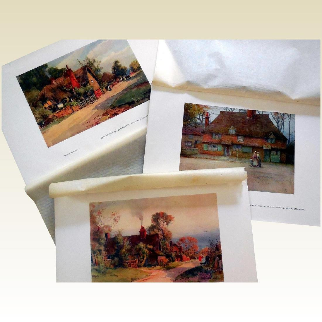 Antique Prints of English Cottages