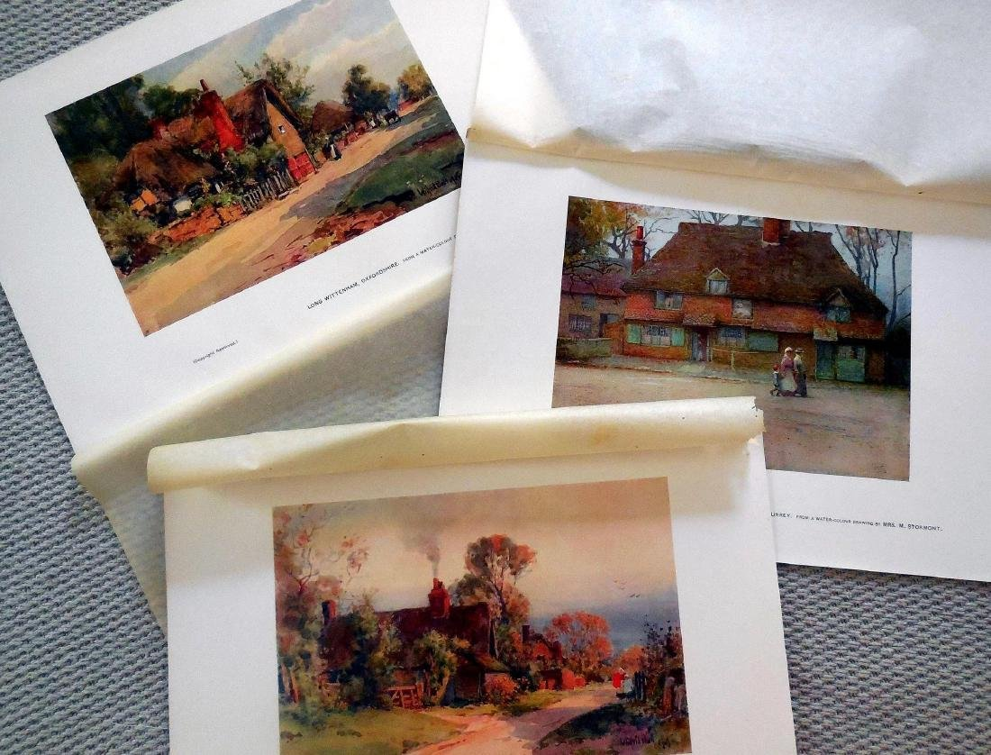 Antique Prints of English Cottages - 2