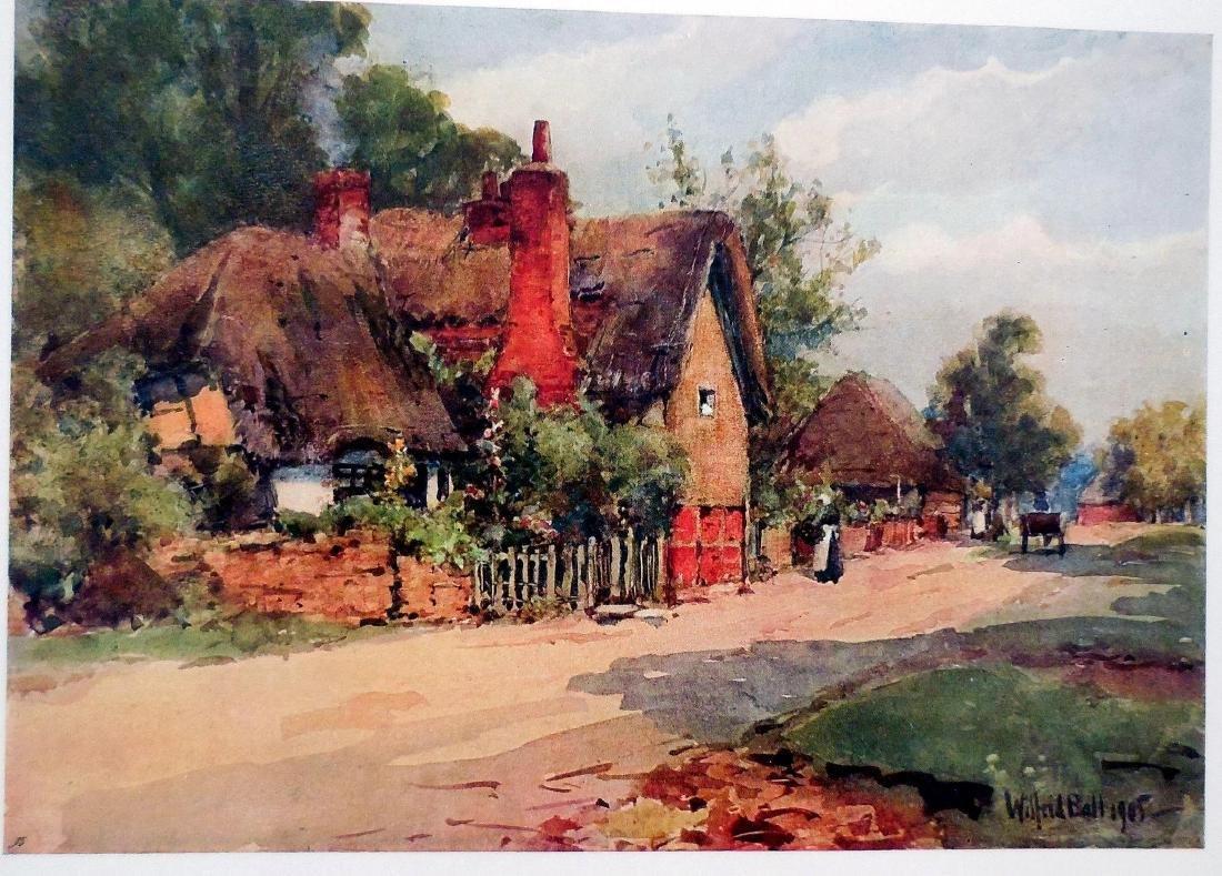 Antique Prints of English Cottages - 3