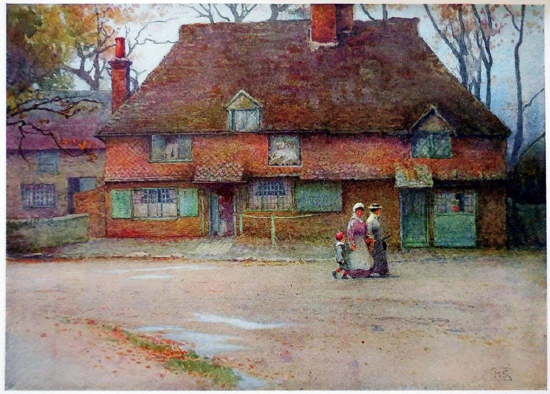 Antique Prints of English Cottages - 4
