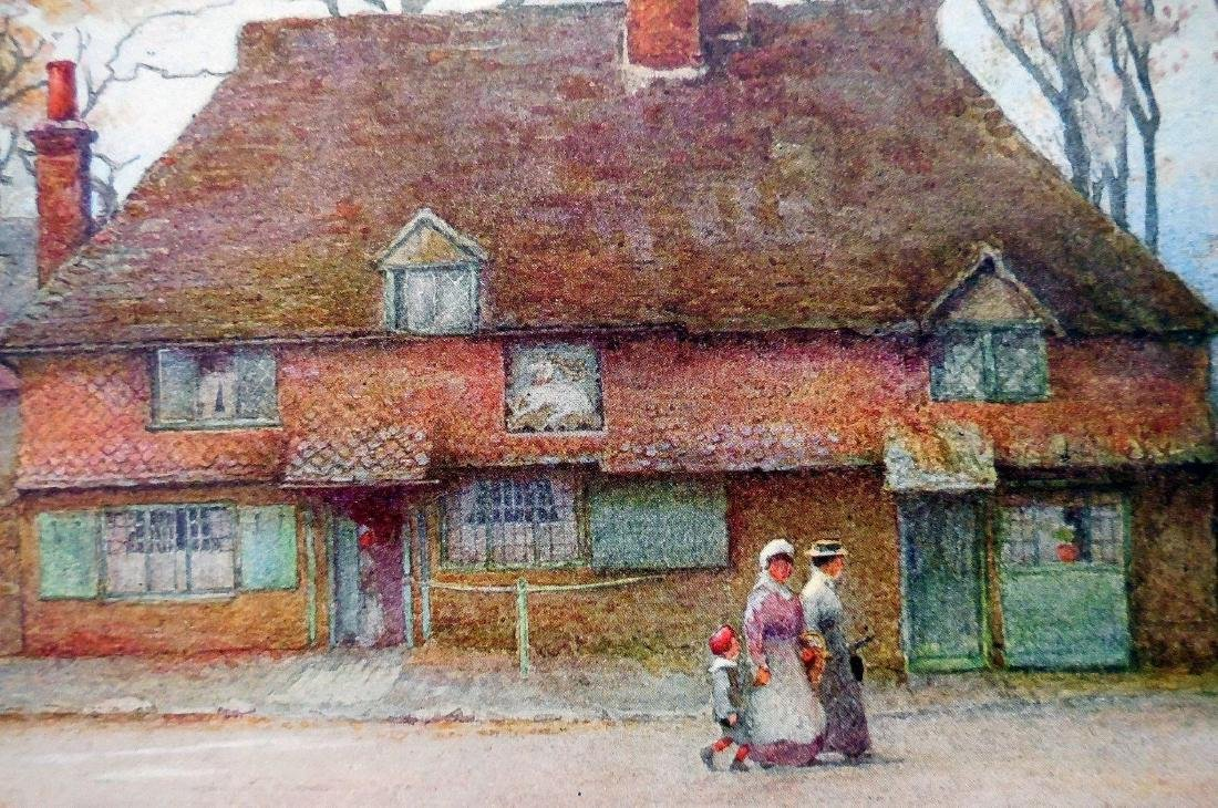 Antique Prints of English Cottages - 7