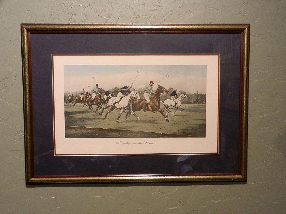 "Vintage George Wright Offset Lithographs ""A Backhander - 2"