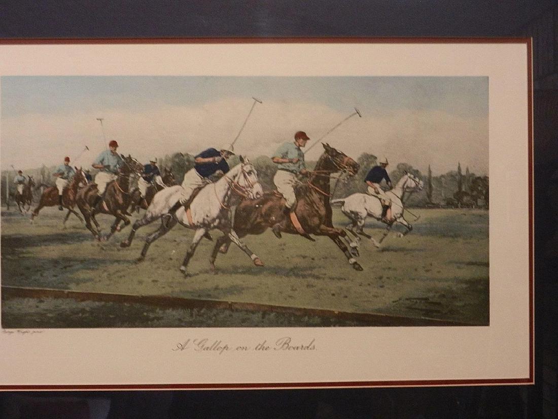 "Vintage George Wright Offset Lithographs ""A Backhander - 3"