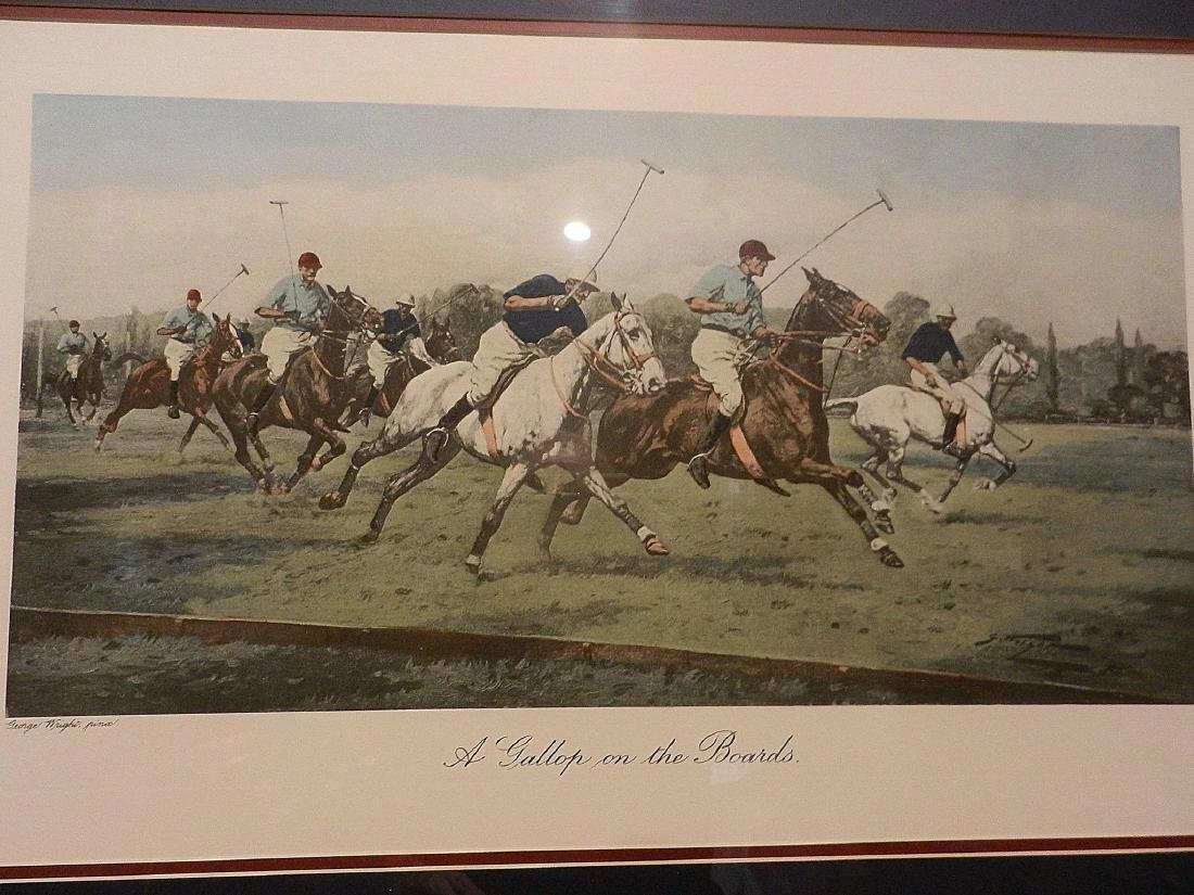 "Vintage George Wright Offset Lithographs ""A Backhander - 4"