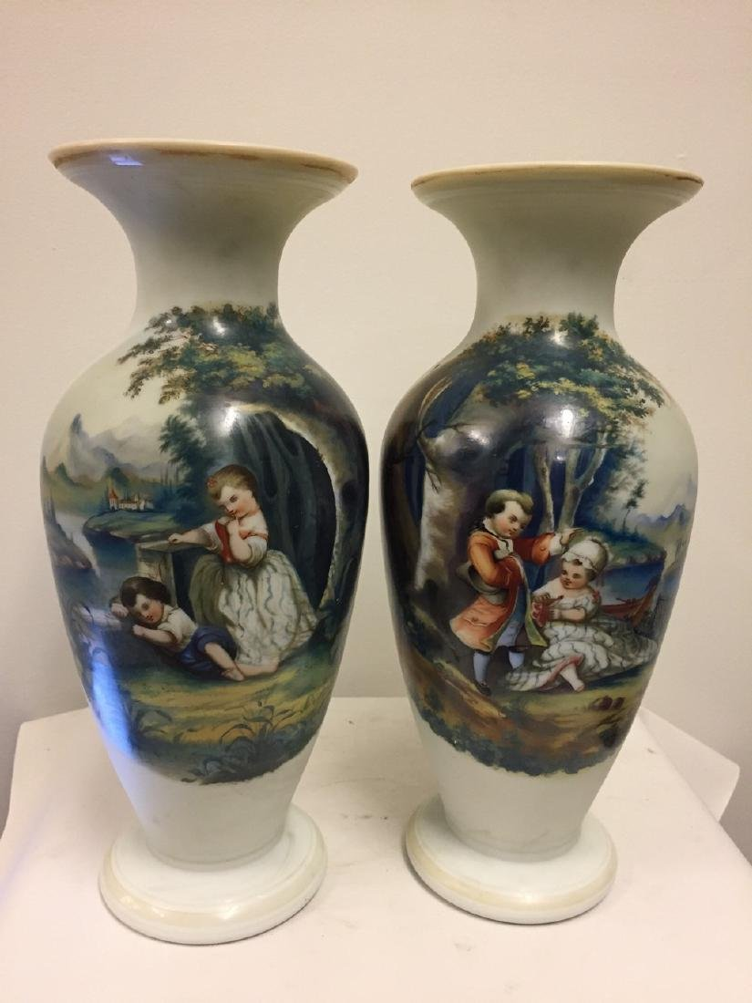 Pair of French Opaline Vases, circa 1890