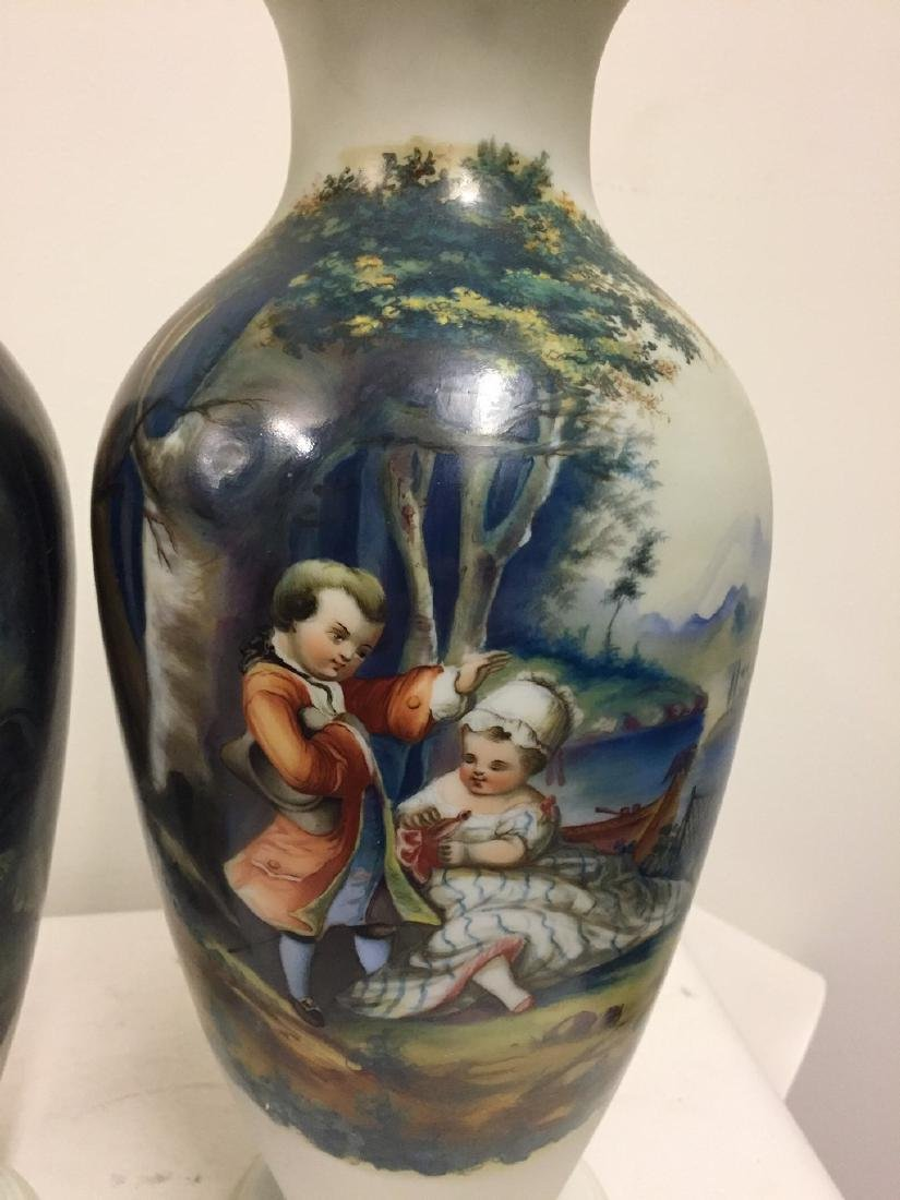 Pair of French Opaline Vases, circa 1890 - 2