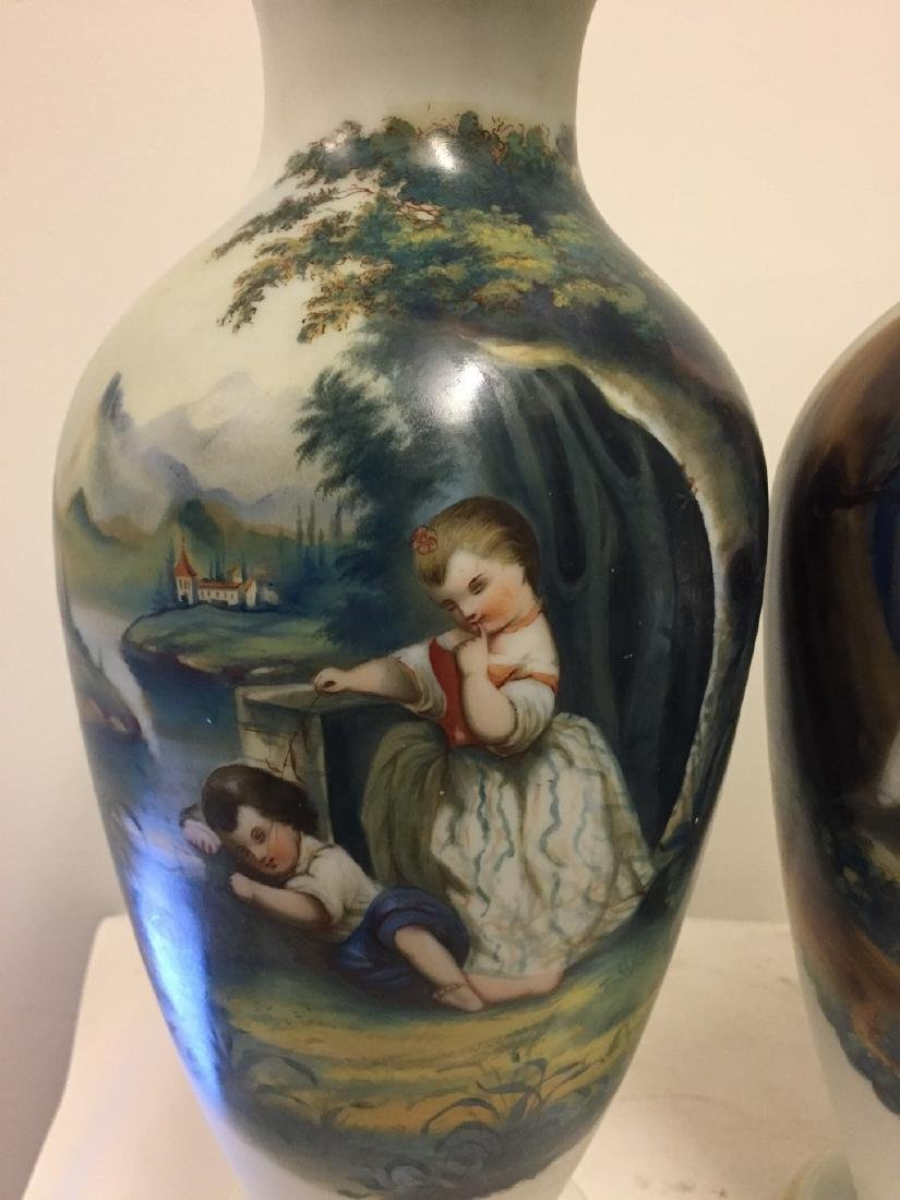 Pair of French Opaline Vases, circa 1890 - 3
