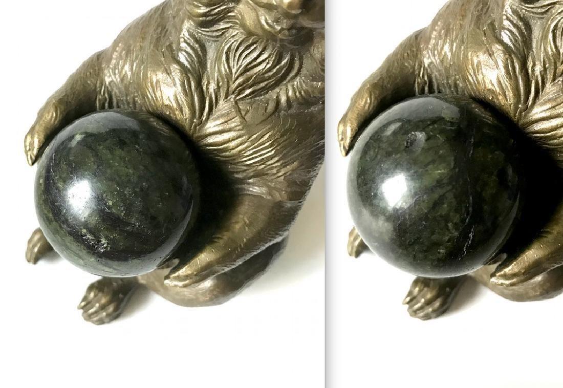 Vintage statue bronze Chipmunk Serpentine shpere ø40mm - 10