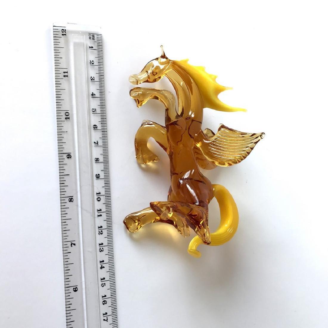 Figurine of Pegasus the winged horse amber coloured - 6