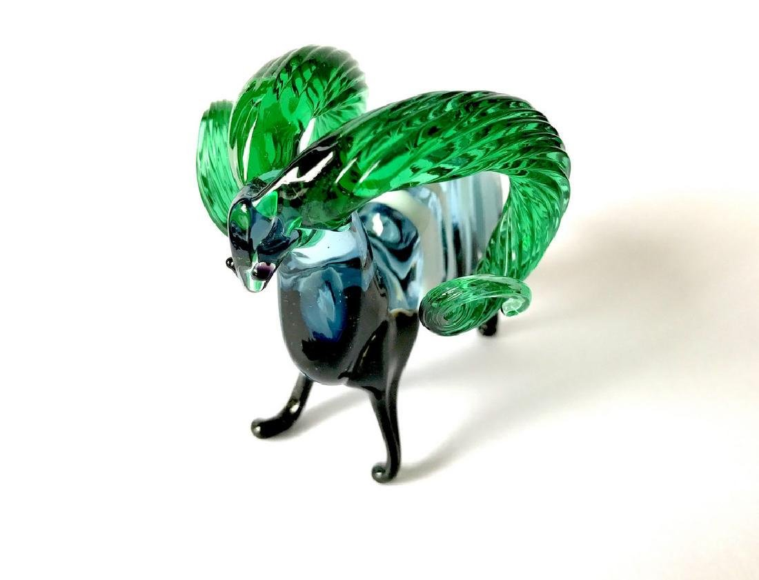 figurine of wether with emerald horns hand blown glass - 6