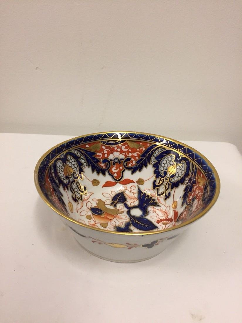 English Porcelain Imari Pattern Bowl, Coalport, ca1820