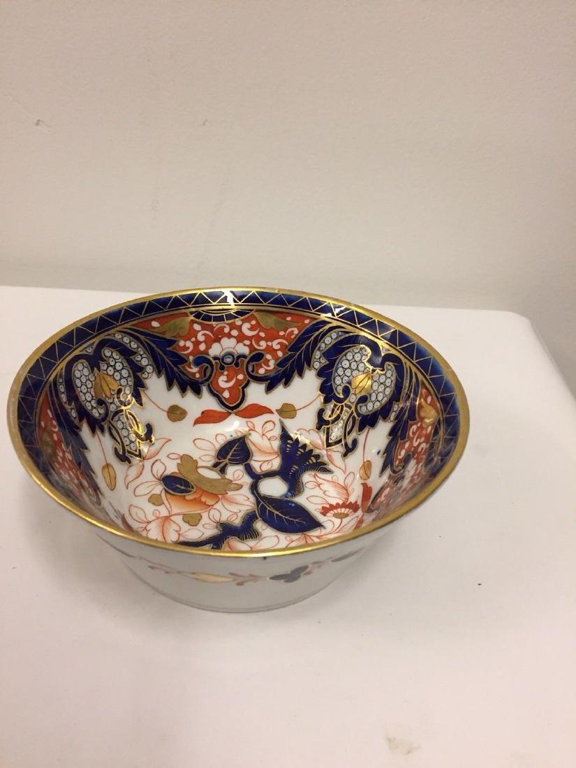 English Porcelain Imari Pattern Bowl, Coalport, ca1820 - 2