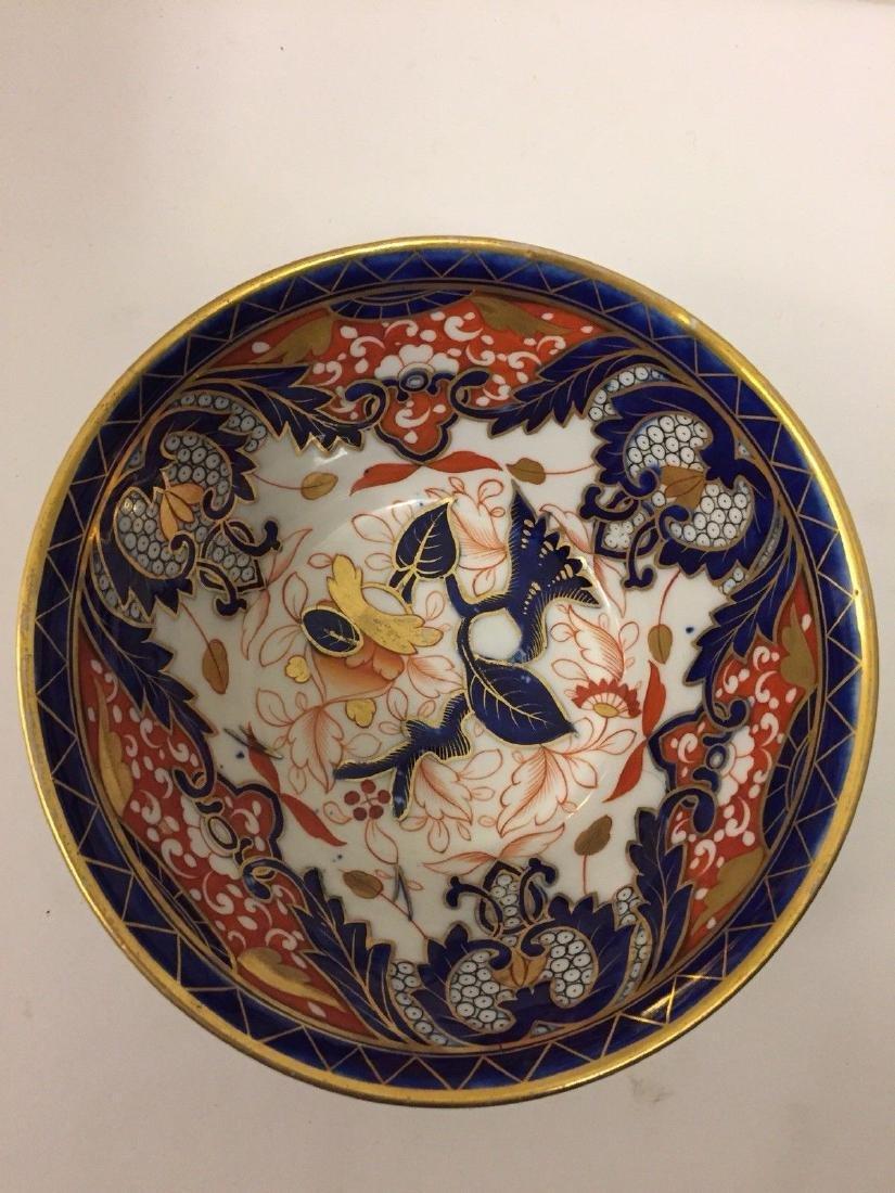 English Porcelain Imari Pattern Bowl, Coalport, ca1820 - 3
