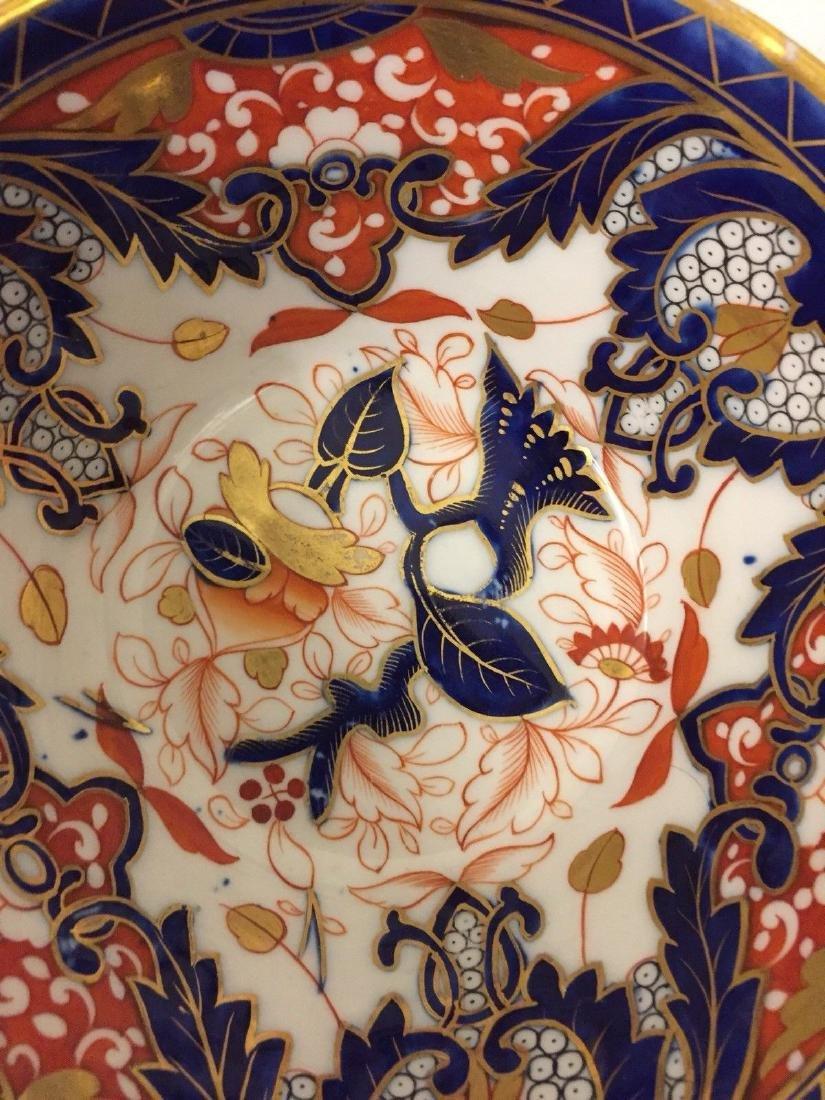 English Porcelain Imari Pattern Bowl, Coalport, ca1820 - 4