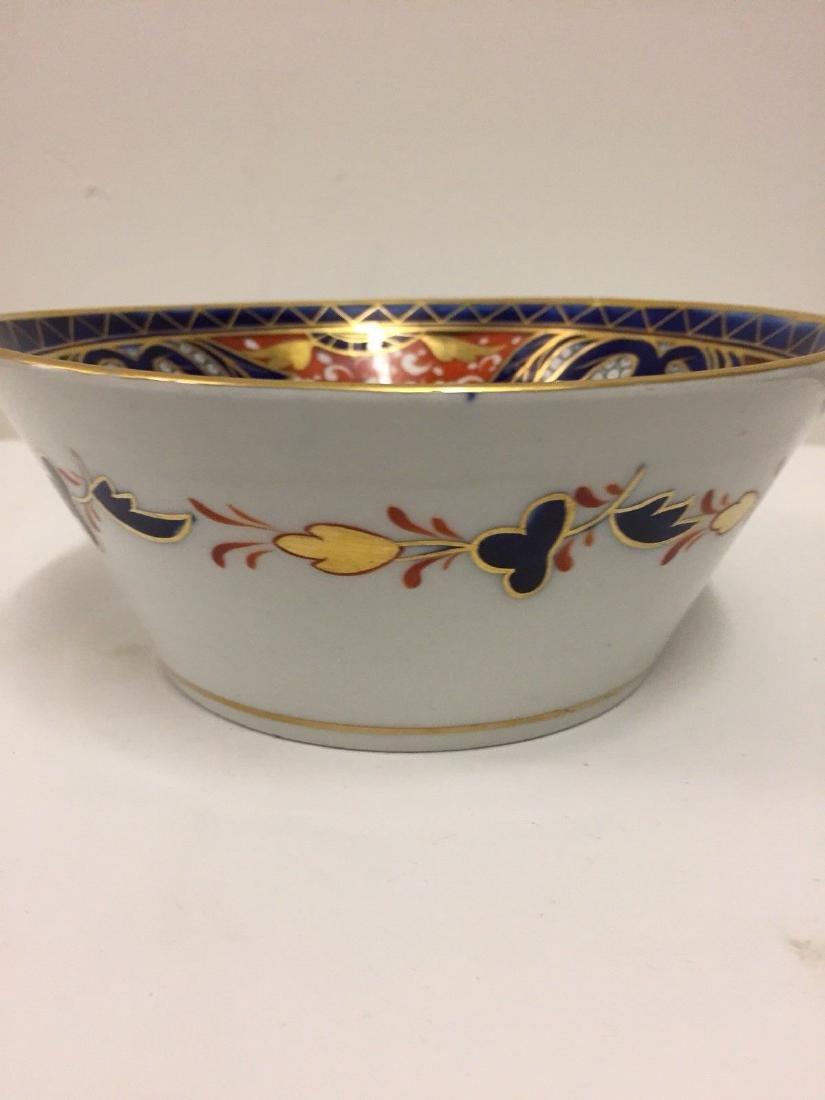 English Porcelain Imari Pattern Bowl, Coalport, ca1820 - 5