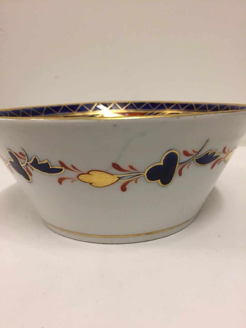 English Porcelain Imari Pattern Bowl, Coalport, ca1820 - 6