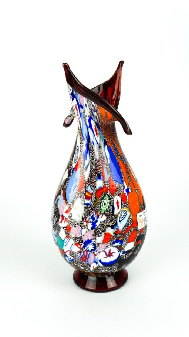 MURANO GLASS VASE FANTASY RED