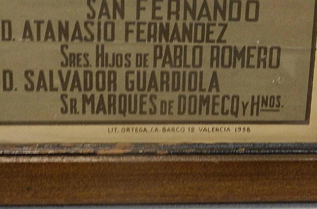 Vintage Original Bullfighting Poster from Bilbao Spain - 4