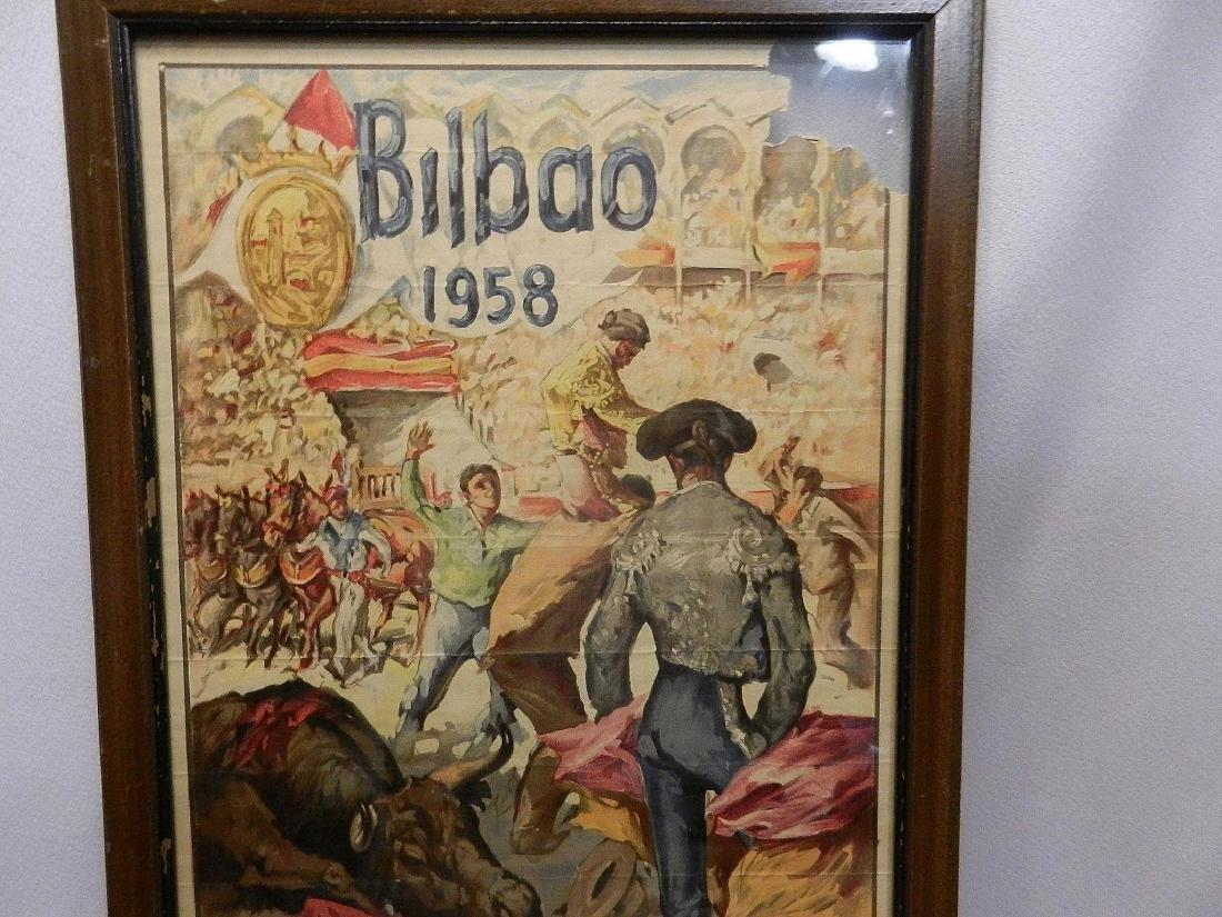 Vintage Original Bullfighting Poster from Bilbao Spain - 9