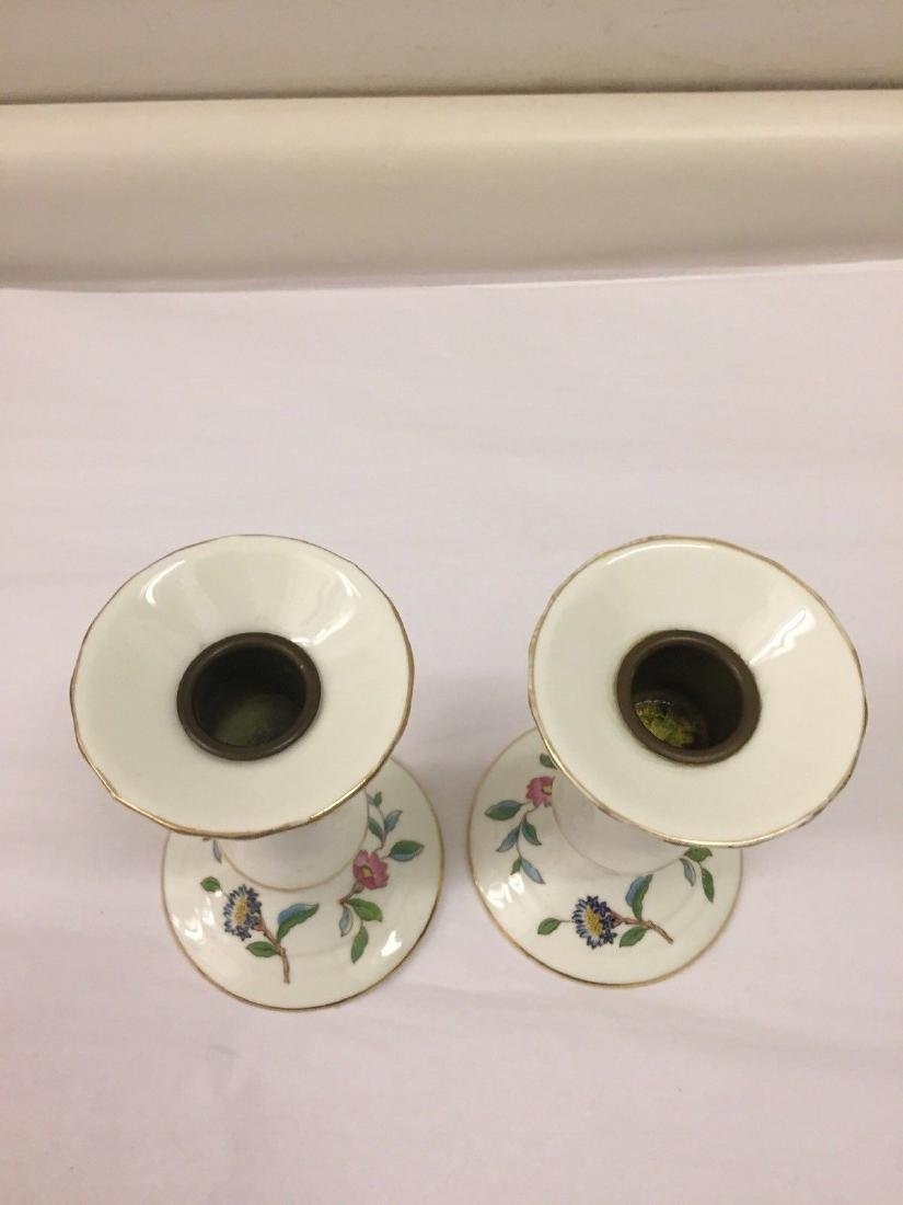 English Porcelain Candlesticks, Aynsley, 20th Cent. - 6