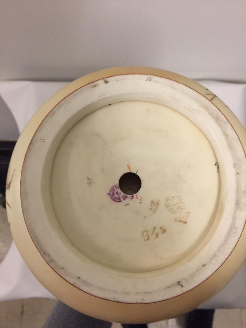 English Porcelain 2-handled Vase, Royal Worcester, 1890 - 7
