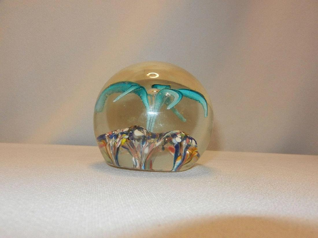Vintage Hand Blown Paperweight - 4