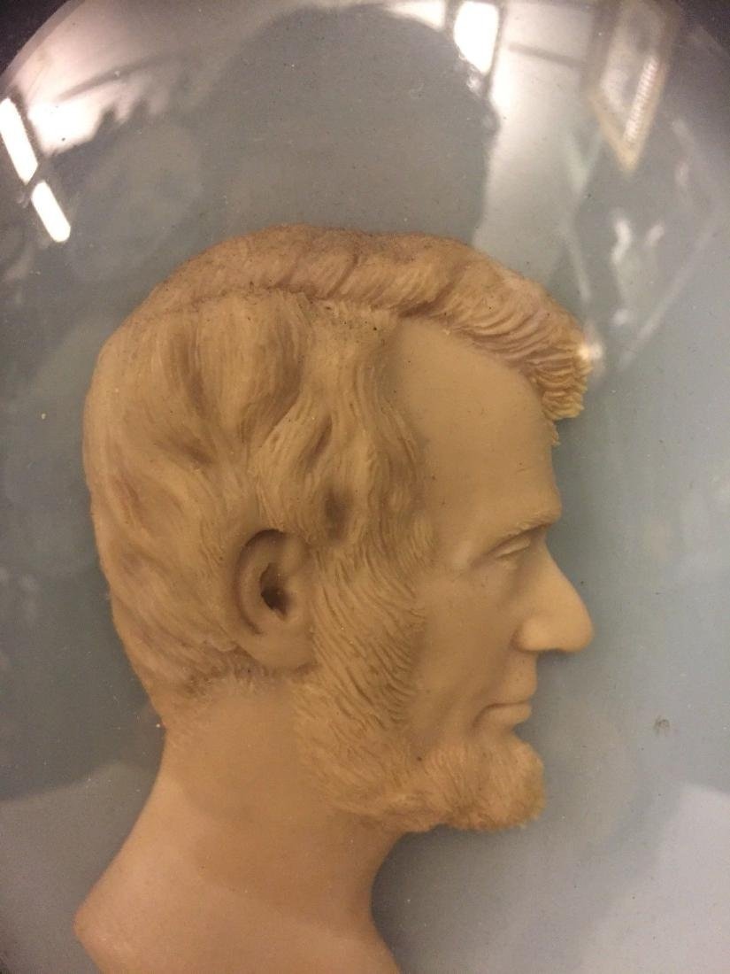 A Waxed Portrait of Abraham Lincoln in Profile, ca1900 - 4
