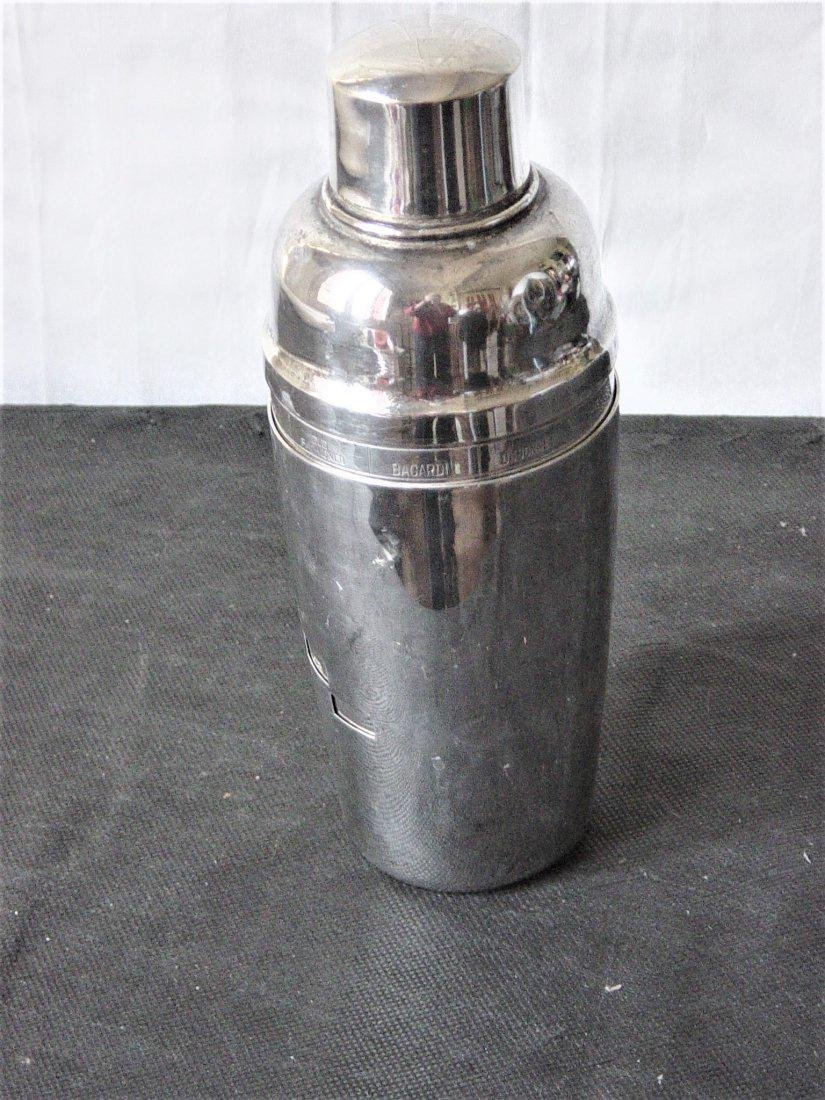 Silver plated shaker of the 50s in 3 parts with the