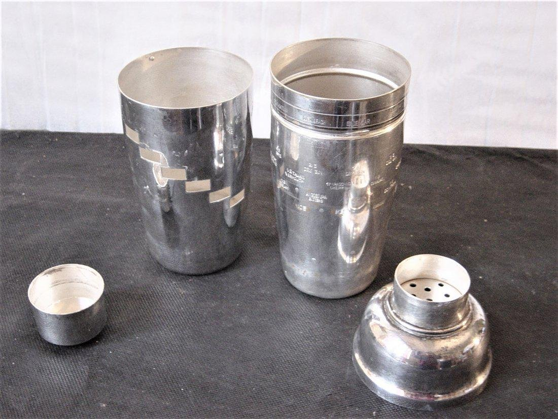 Silver plated shaker of the 50s in 3 parts with the - 6
