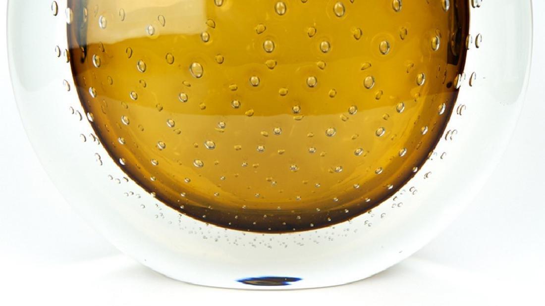 VASE BALLOTON AMBER - MADE MURANO GLASS - 10