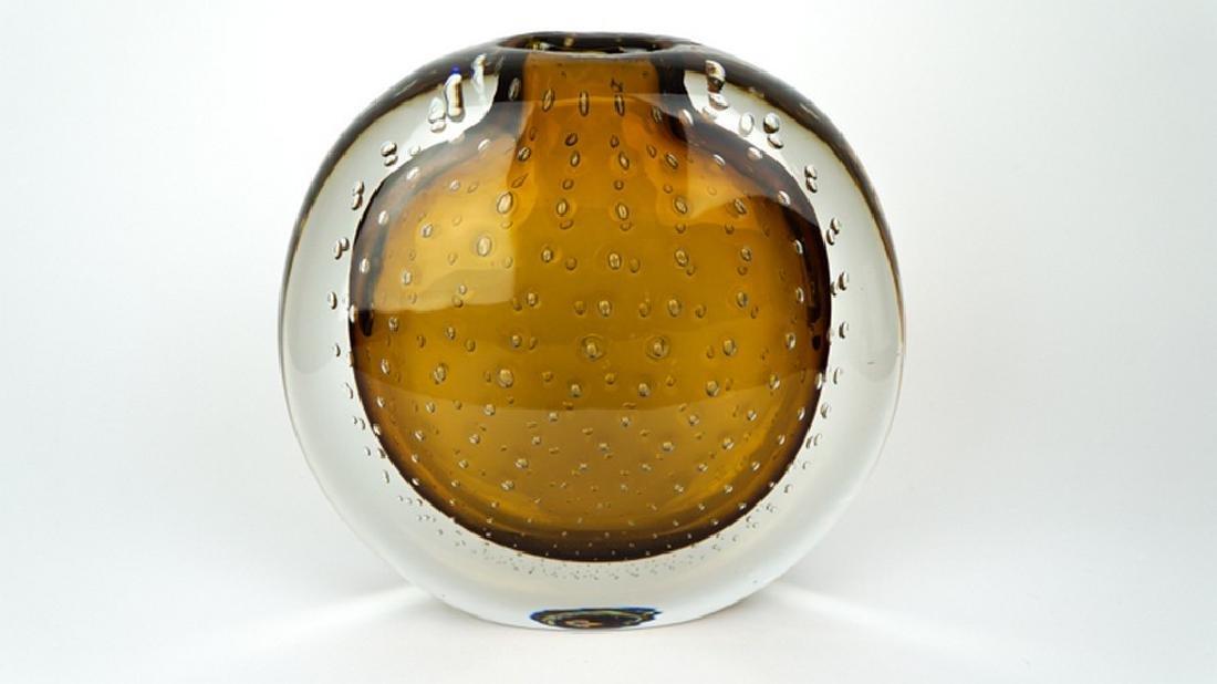 VASE BALLOTON AMBER - MADE MURANO GLASS