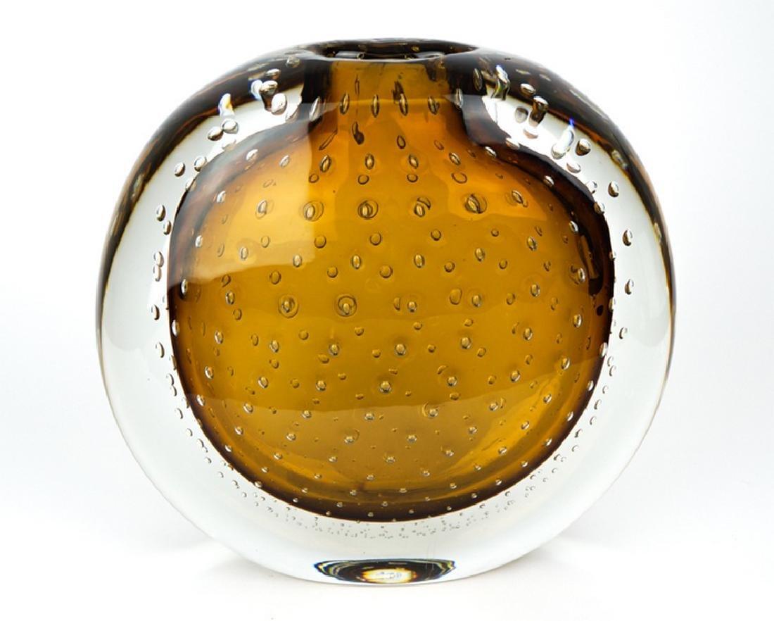 VASE BALLOTON AMBER - MADE MURANO GLASS - 2
