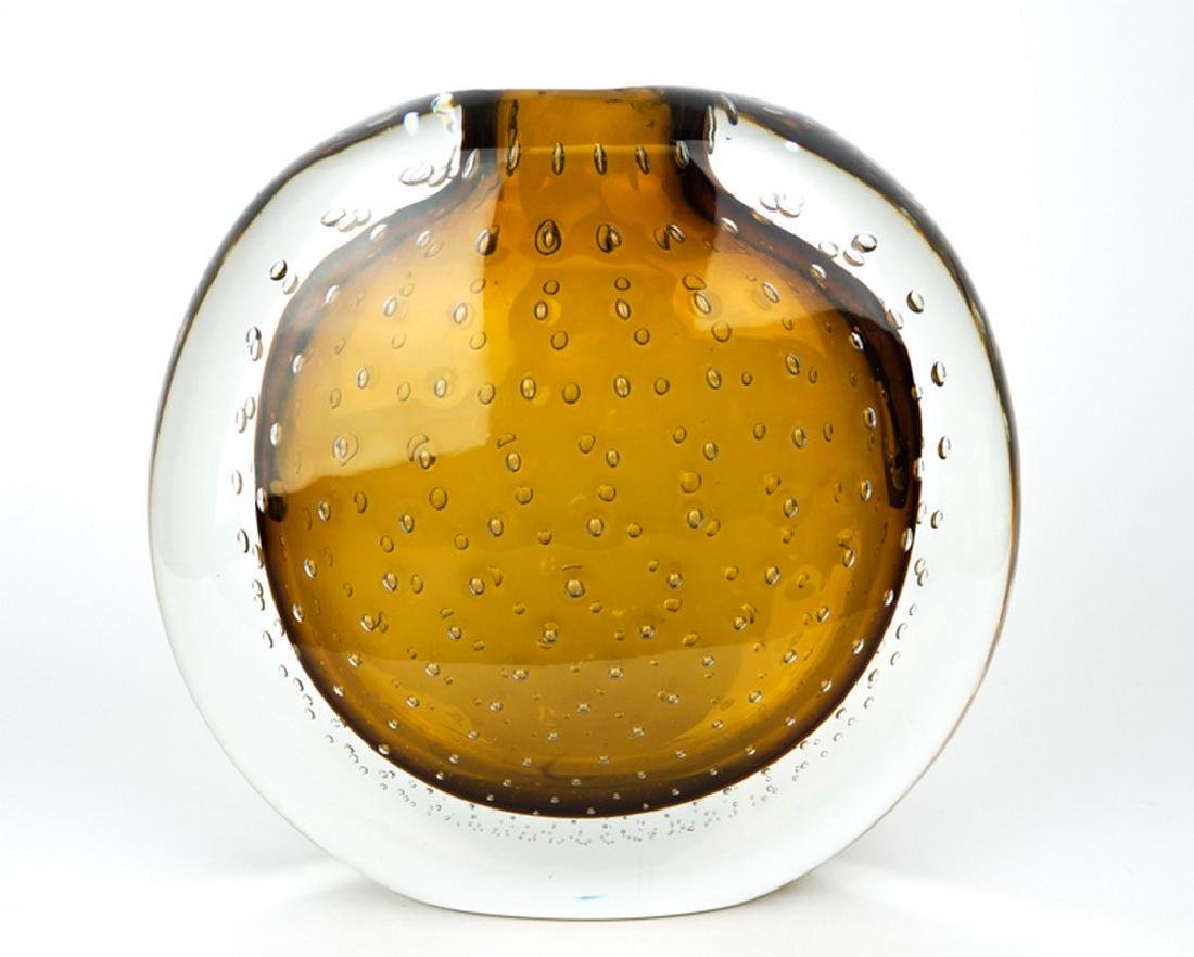 VASE BALLOTON AMBER - MADE MURANO GLASS - 3