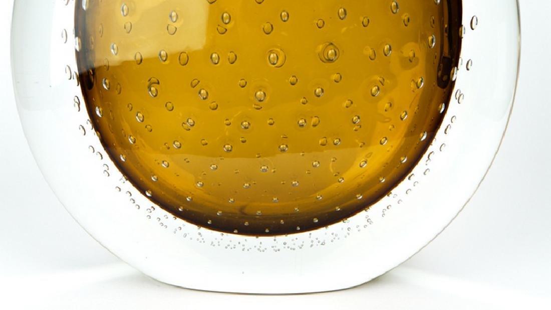VASE BALLOTON AMBER - MADE MURANO GLASS - 5