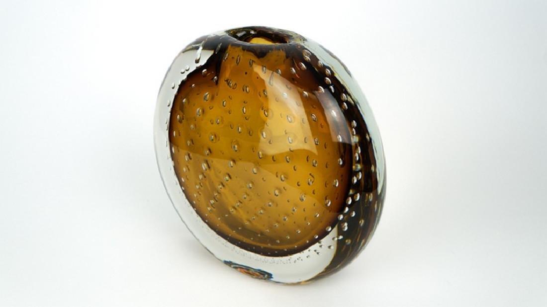 VASE BALLOTON AMBER - MADE MURANO GLASS - 7