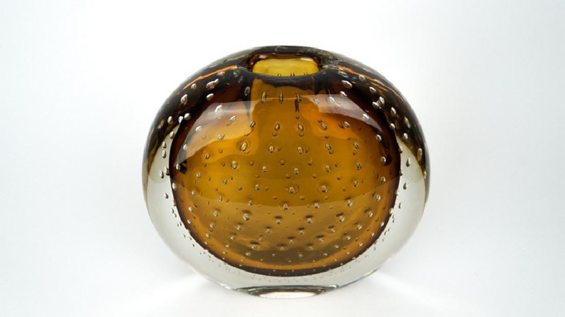 VASE BALLOTON AMBER - MADE MURANO GLASS - 8