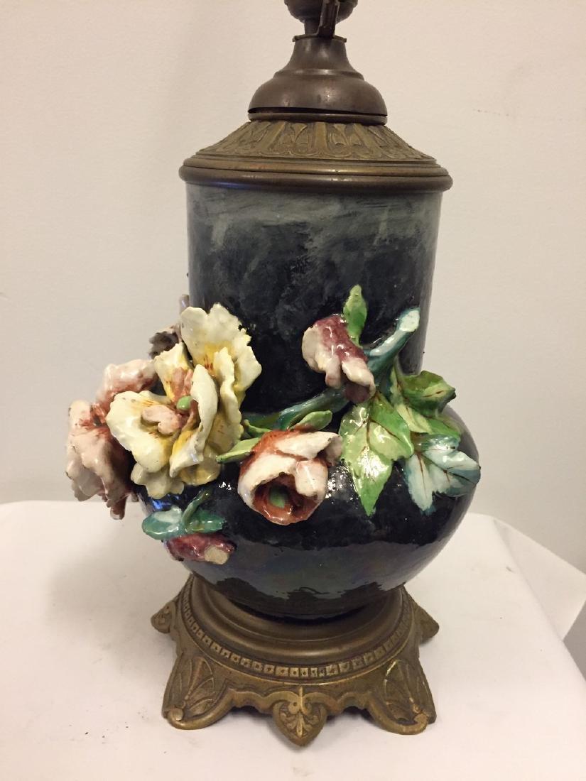 European Majolica Vase Mounted as Lamp, circa 1900 - 5