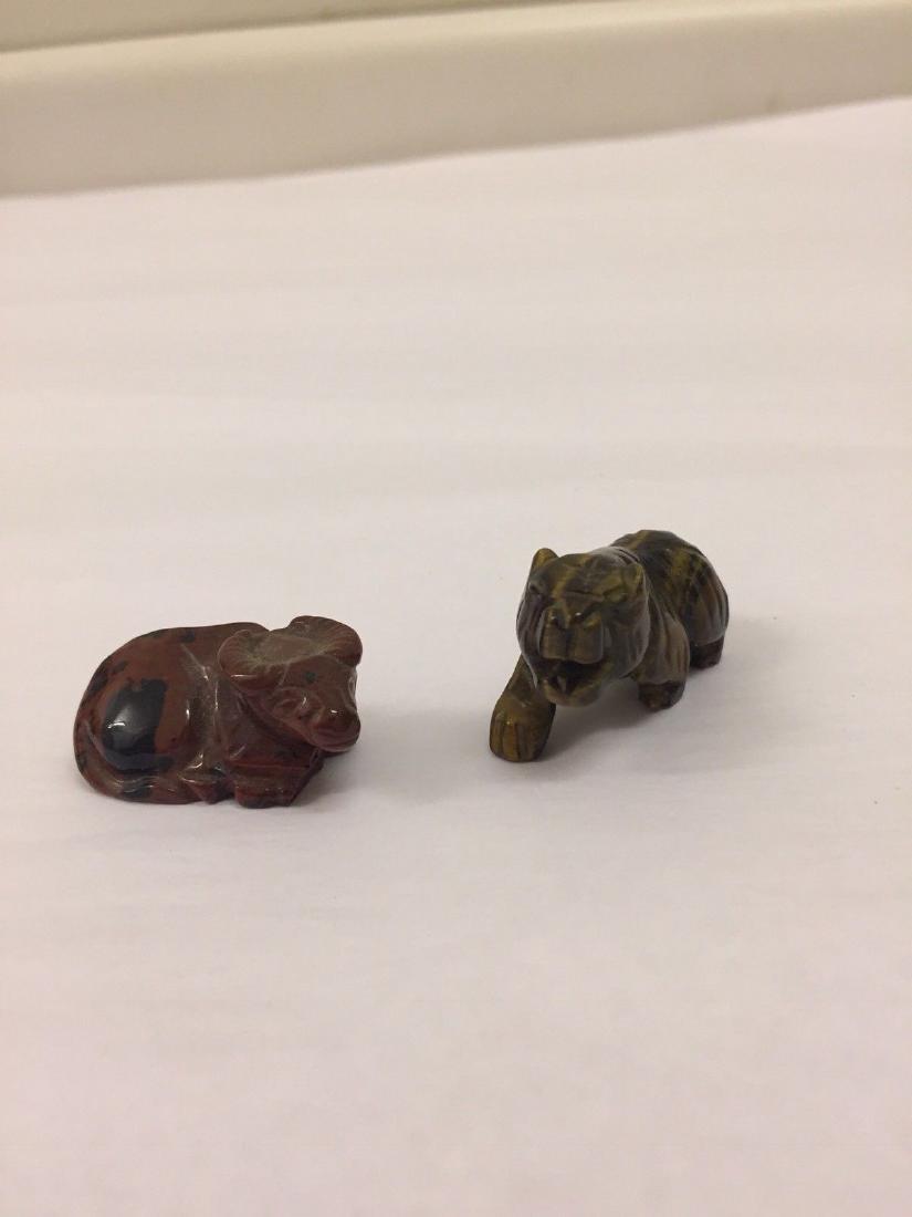14 Antique Miniature Stone Animals - 3
