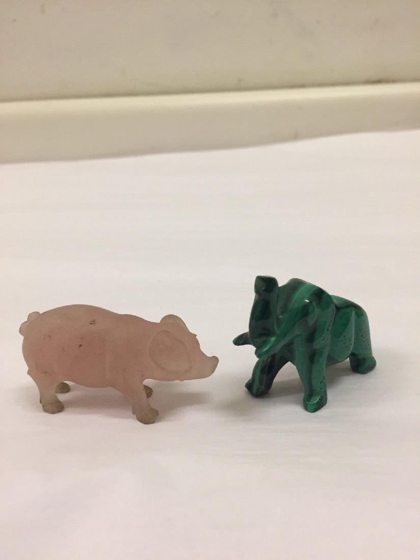 14 Antique Miniature Stone Animals - 6