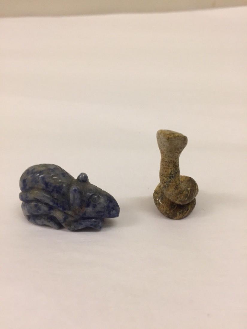 14 Antique Miniature Stone Animals - 8