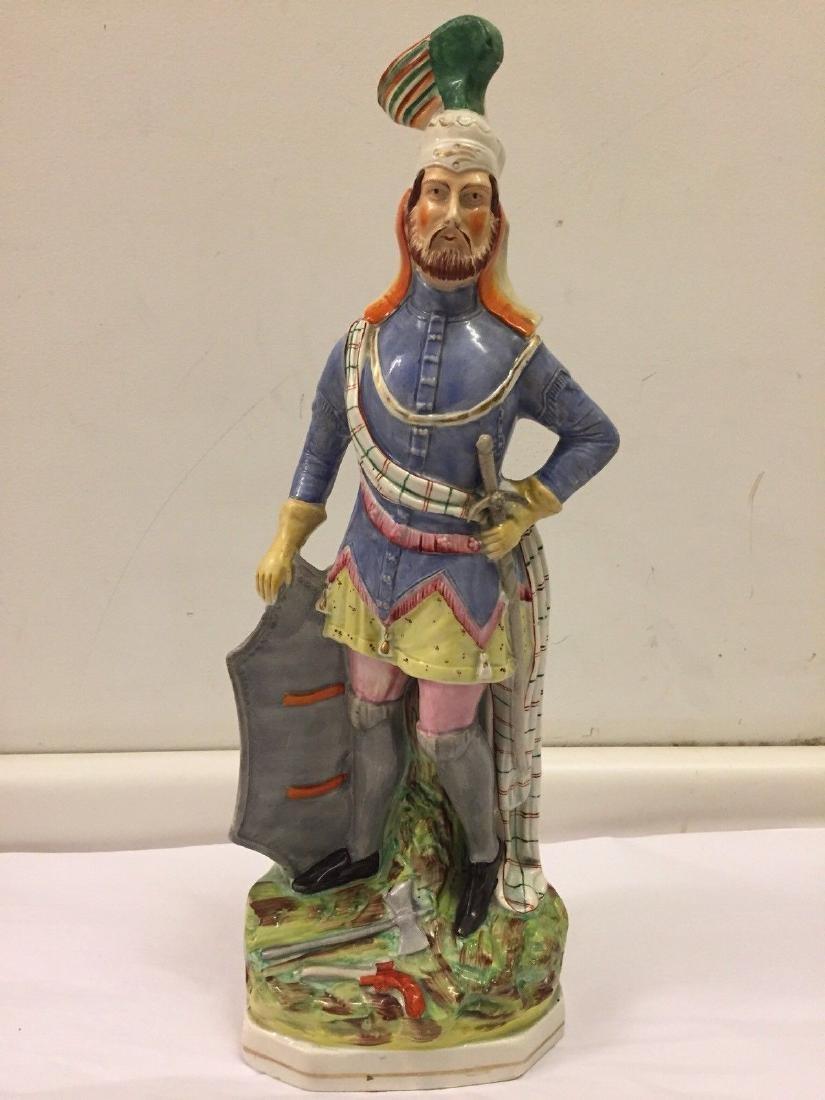 Staffordshire Pearlware Figure of a Highlander, 1890