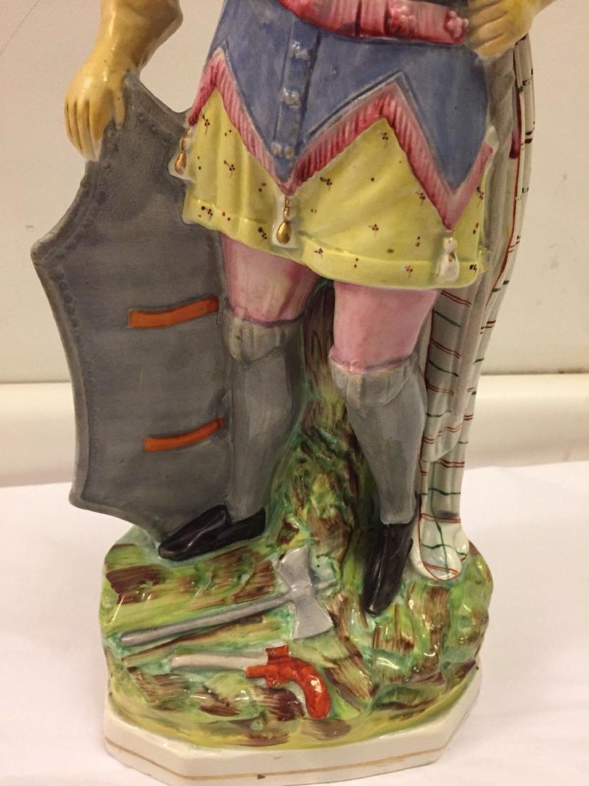 Staffordshire Pearlware Figure of a Highlander, 1890 - 4