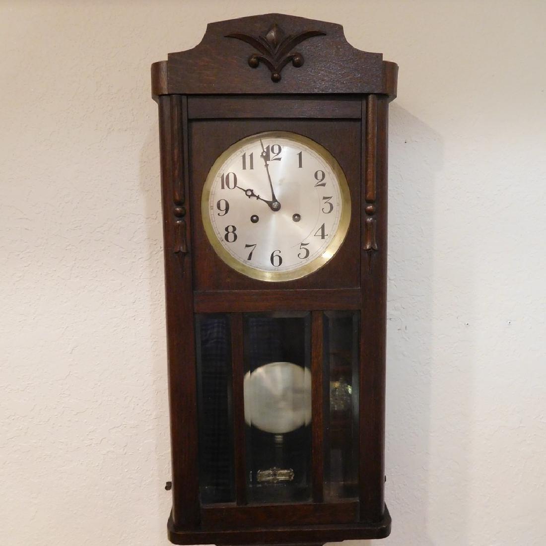 Antique German Box Clock