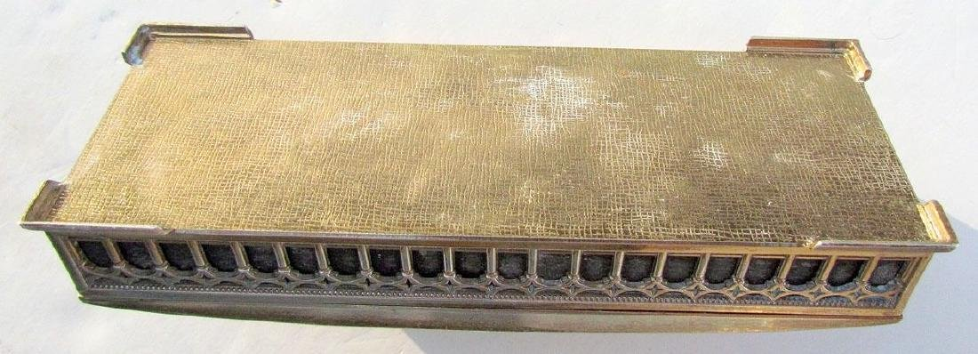 VINTAGE SILVER PLATED BOX w/ DIMENSIONAL HORSE CART - 4