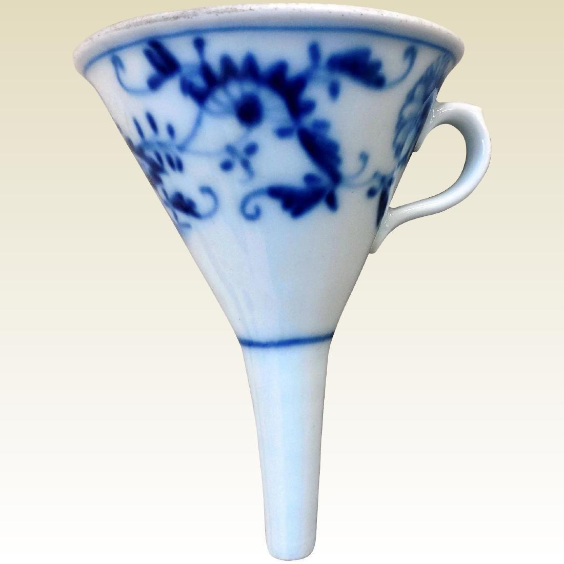 Antique Blue Onion Porcelain Funnel