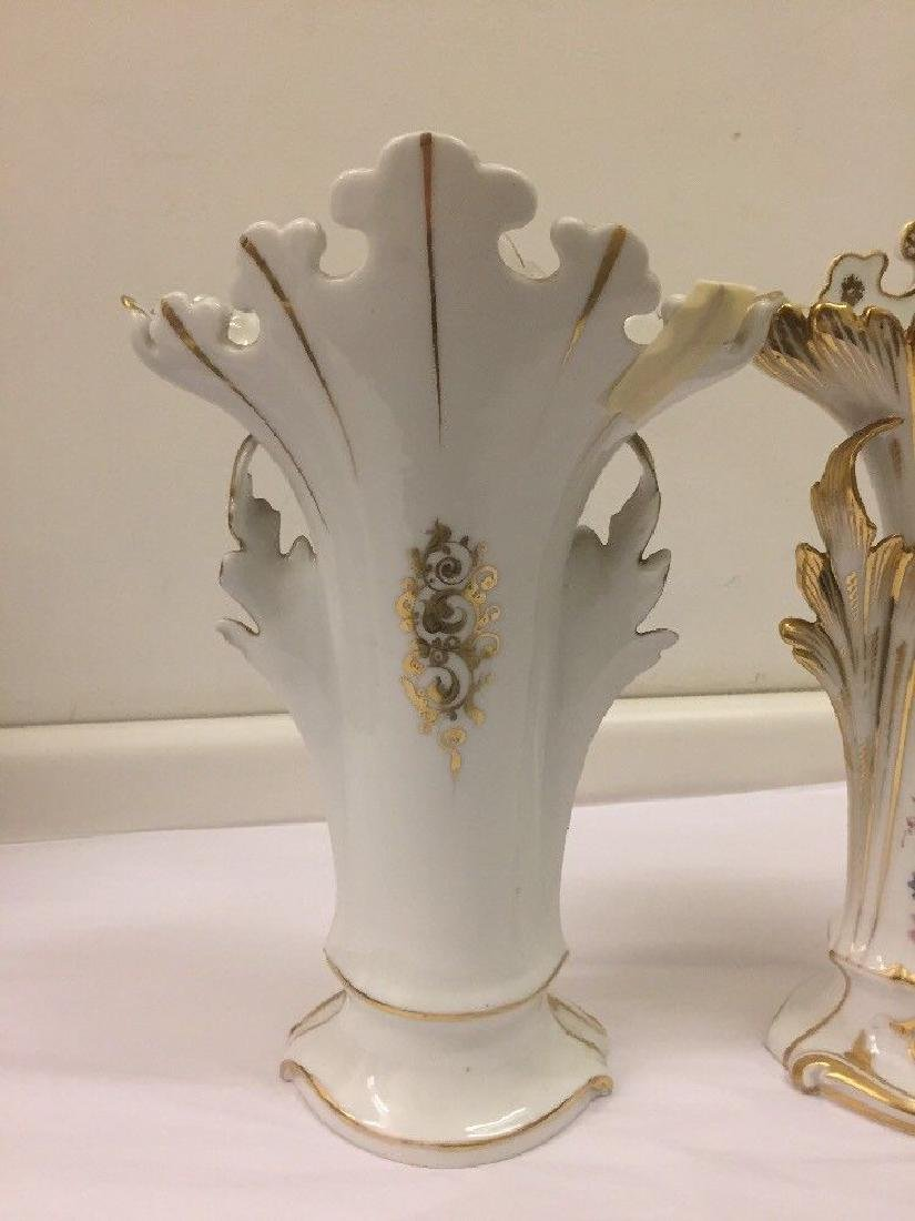 Pair of Paris Porcelain Flower Vases, Circa 1890 - 10