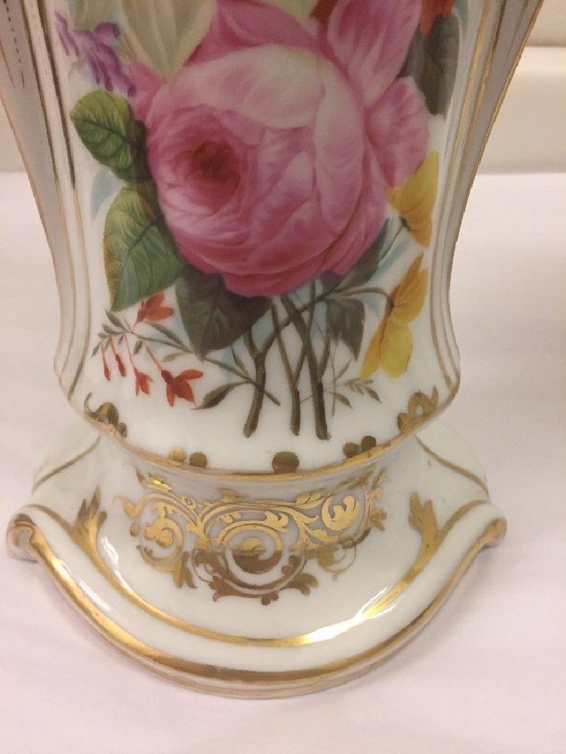 Pair of Paris Porcelain Flower Vases, Circa 1890 - 6