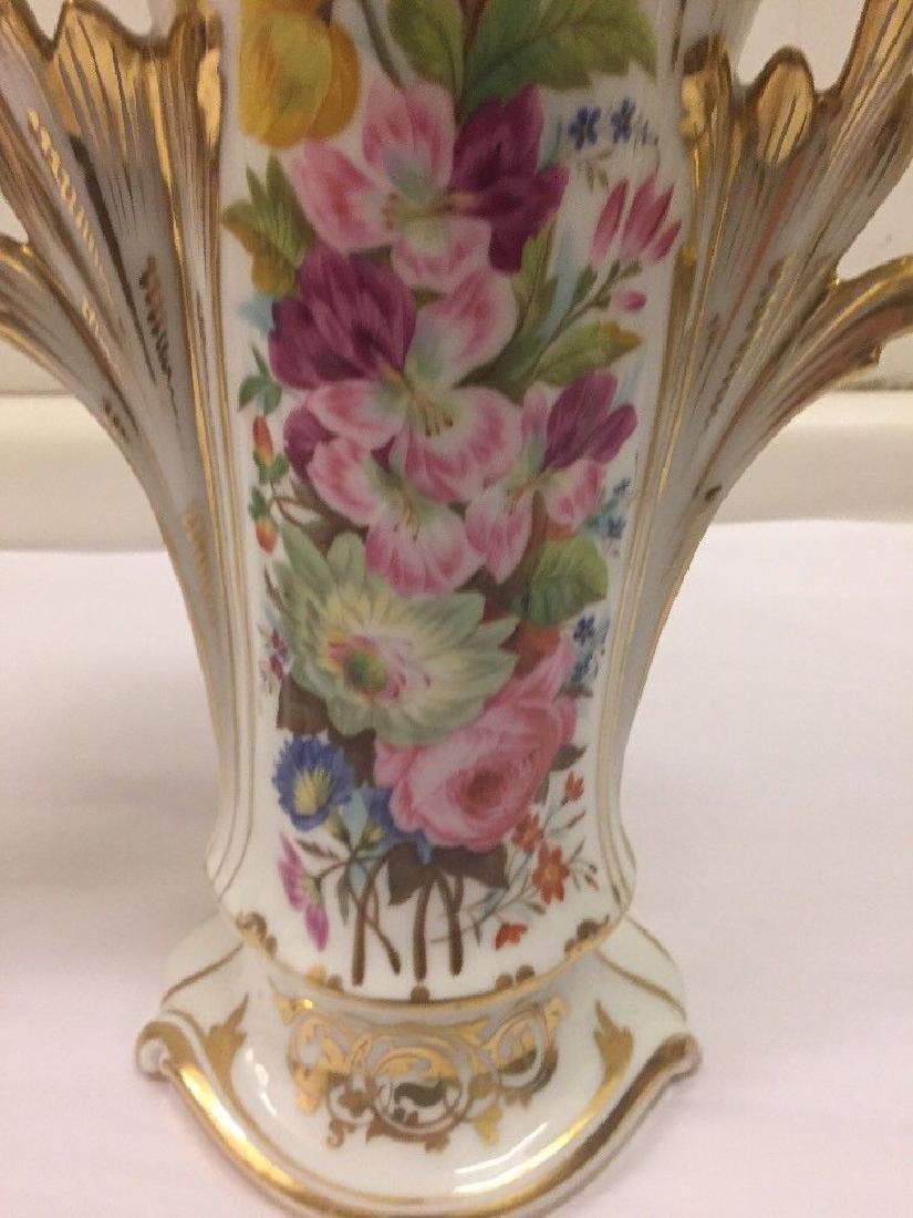 Pair of Paris Porcelain Flower Vases, Circa 1890 - 7
