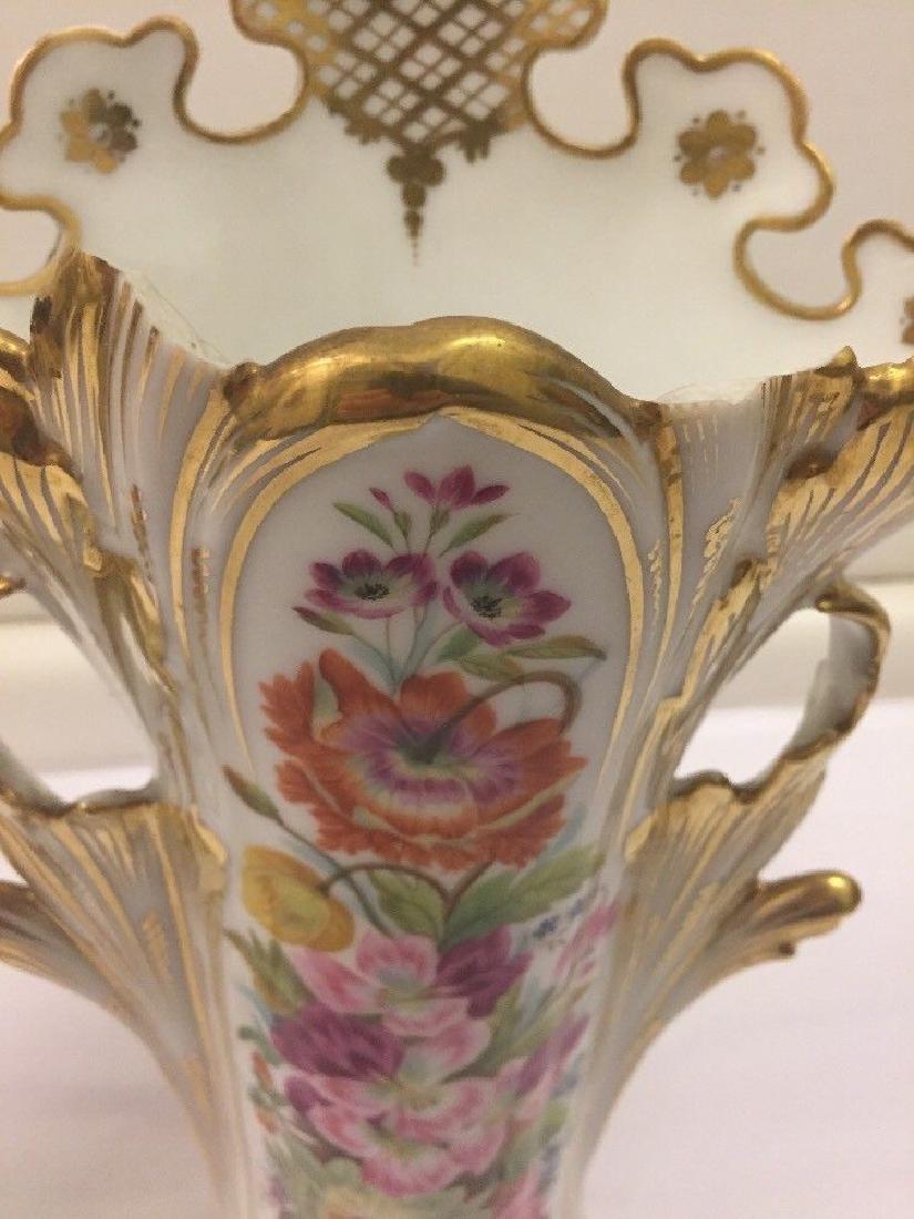 Pair of Paris Porcelain Flower Vases, Circa 1890 - 8