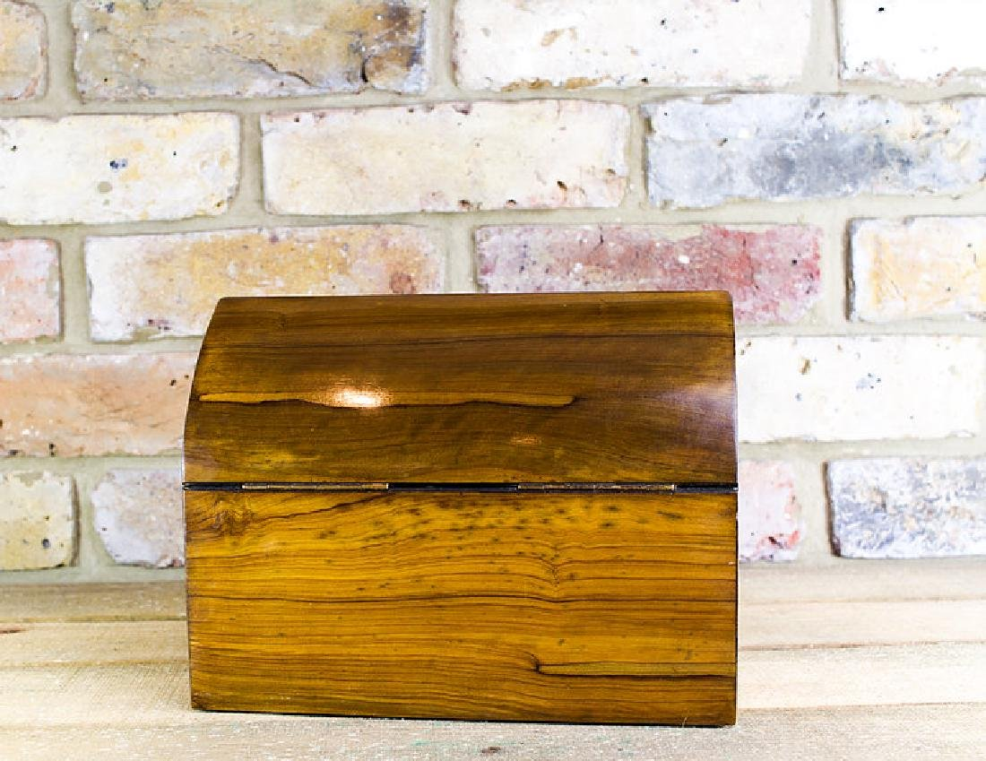 Olivewood Desk box brass overlay c.1870 - 3